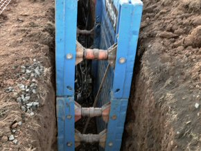Deep drainage with drag box at Crowcombe for Faulkener Housing