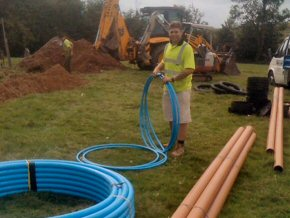Supply and Fit new septic tank and pumping chamber to a property near Taunton. Also new Water Pipe.