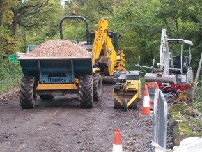 Highways Agency approved road sewer connection.